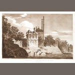 HODGES (WILLIAM) A View of Part of the City of Benares, upo the Ganges; and 5 other sepia aquatints after Hodges, 1785-1788 (6)