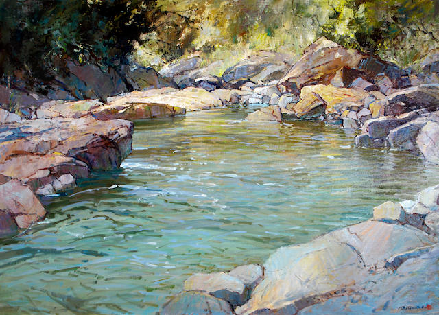 Titta Fasciotti (South African, 1927-1993) Mountain Pool, Drakensburg