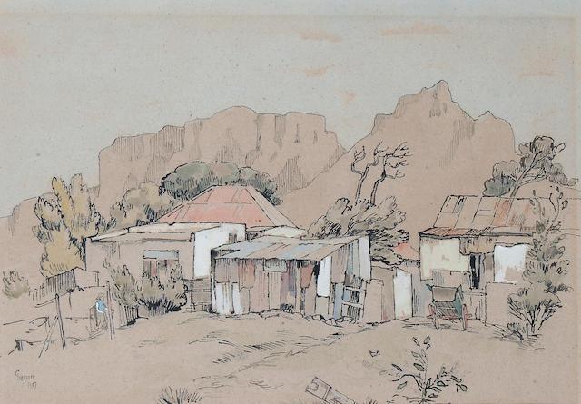 Gregoire Johannes Boonzaier (South African, 1909-2005) A village scene