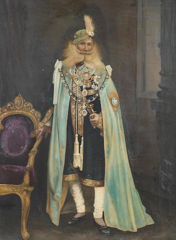 ORCHHA A full length portrait of Maharaja Sir Pratap Singh Bahadur Ju Deo of Orchha, [c.1925]
