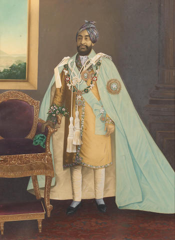 TONK A portrait of Nawab Sir Muhammad Ibrahim Ali Khan of Tonk, Rajasthan, [c.1920]