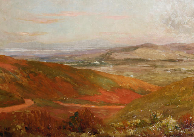 Edward Roworth (South African, 1880-1964) Landscape at dusk