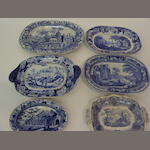 Of Classical and Italianate interest: A collection of blue and white transfer printed wares, early 19th century