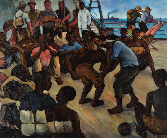 Francois Krige (South African, 1913-1994) 'On board ship'