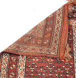 Two rugs red and brown