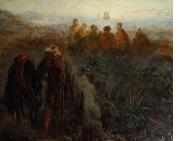 Frans David Oerder (Dutch, 1867-1944) Christ appearing to the disciples Christ appearing to the disciples Christ appearing to the disciples