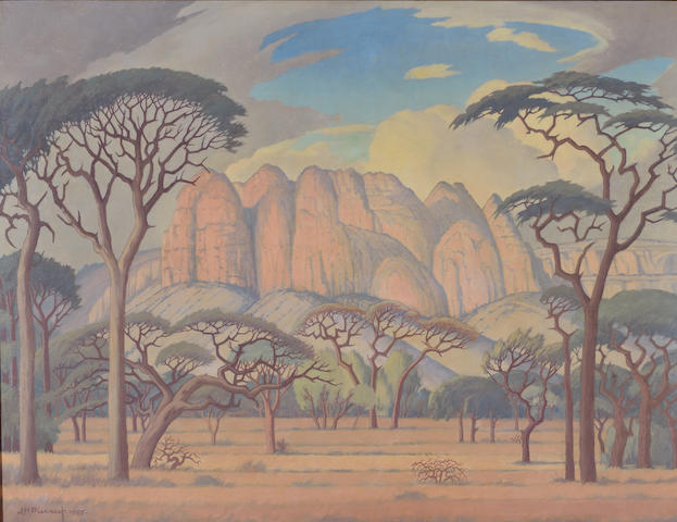 Jacob Hendrik Pierneef (South African, 1886-1957) Kransberg, Rustenburg, Transvaal