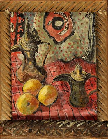 Freida Lock (South African, 1902-1962) 'Two coffee pots'