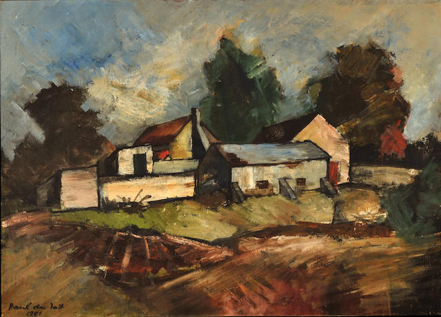 Paul Du Toit (South African, born 1965) The farmhouse