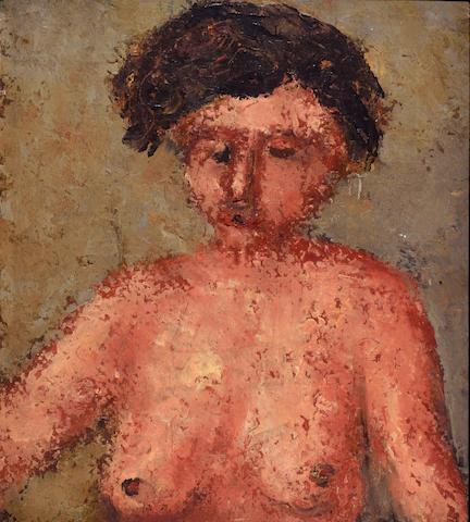 Wolf Kibel (Polish, 1903-1938) Nude study