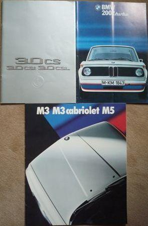 Three BMW factory sales brochures,