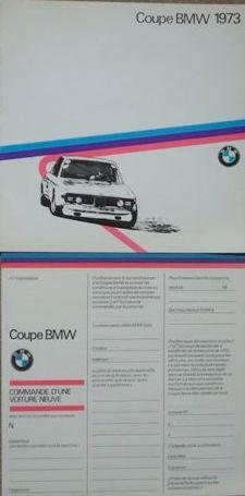 A rare 1973 BMW CSL Cup factory sales brochure,