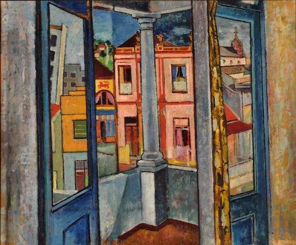 Francois Krige (South African, 1913-1994) Dorp Street studio