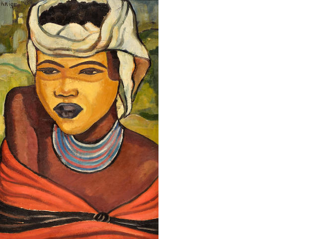 Francois Krige (South African, 1913-1994) Xhosa girl