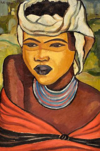 Francois Krige (South African, 1913-1994) Xhosa girl