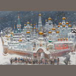 Vasily Sitnikov (Russian, 1915-1987) The Kremlin in the snow
