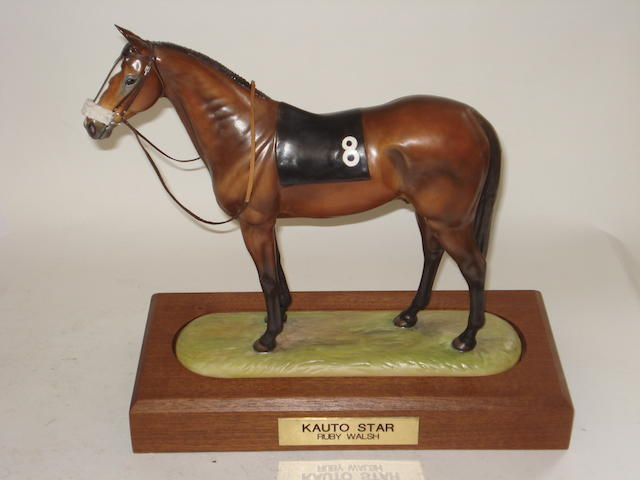 A RCL Sporting Icon porcelain figure of Kauto Star