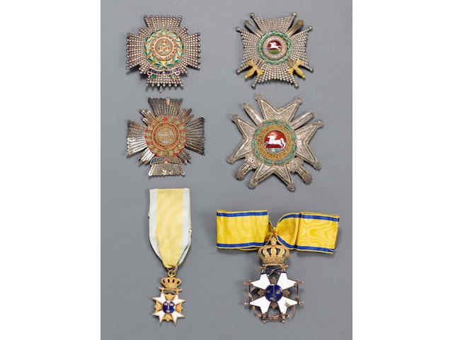 The Orders and Decorations awarded to Rear Admiral of the White Sir Arthur Farquhar, Royal Navy,