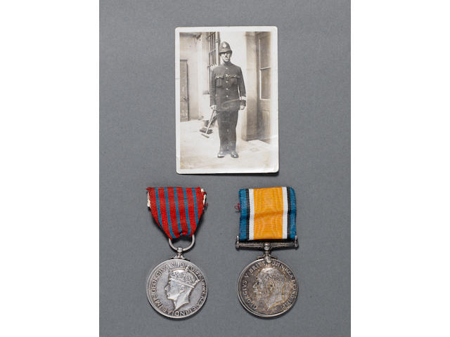 A Second World War George Medal pair to Police Constable W.G.Taylor, Metropolitan Police,