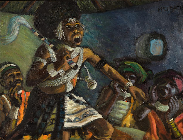 George Mnyalaza Milwa Pemba (South African, 1912-2001) 'Sangoma'