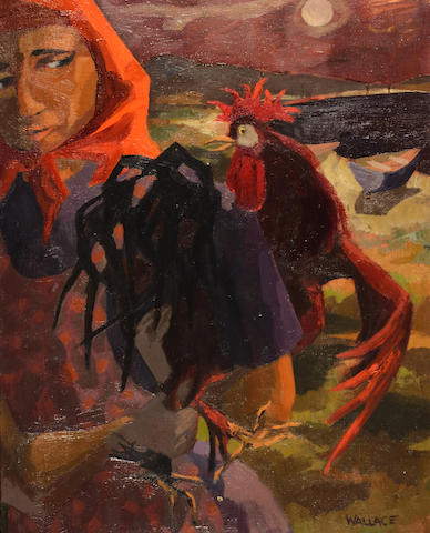 Marjorie Wallace (South African, 1925-2005) Woman with rooster