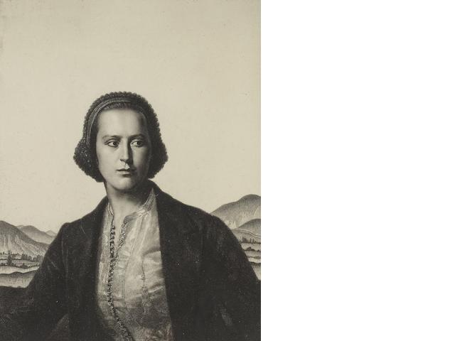 Gerald Leslie Brockhurst (British, 1891-1978) 22.75 x 17.5cm (8 15/16 x 6 7/8in).