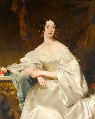 Frederick Richard Say (active England, circa 1827-circa 1860) Portrait of the Hon. Jane Edwards, Lady Dering, three-quarter-length,
