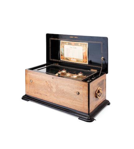 A late 19th century Swiss music box
