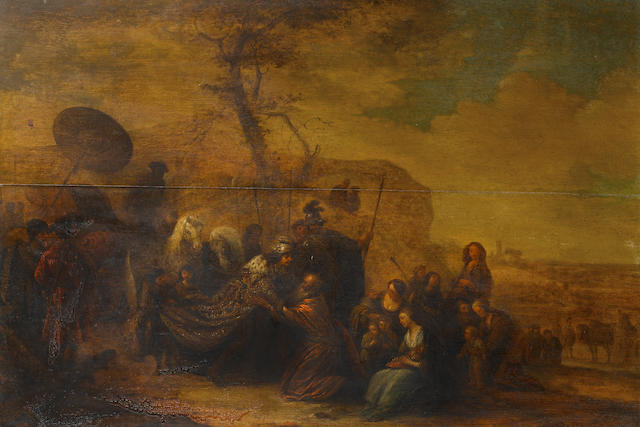 Attributed to Gerrit de Wet (Amsterdam 1616-1674 Leiden) The Reconciliation of Joseph and Jacob