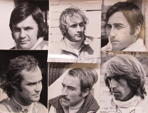 A collection of Formula 1 race driver photographs,