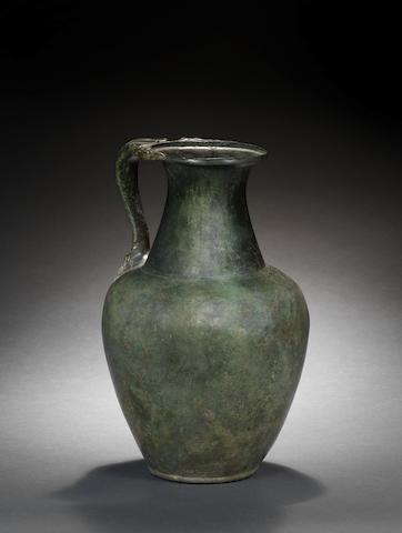 A Roman bronze olpe