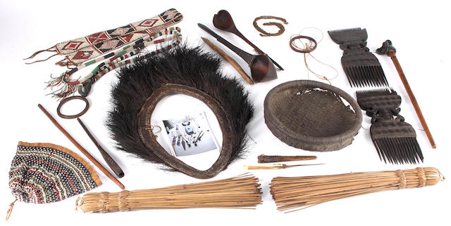 A group of mostly Bondei ethnographic artefacts Tanzania