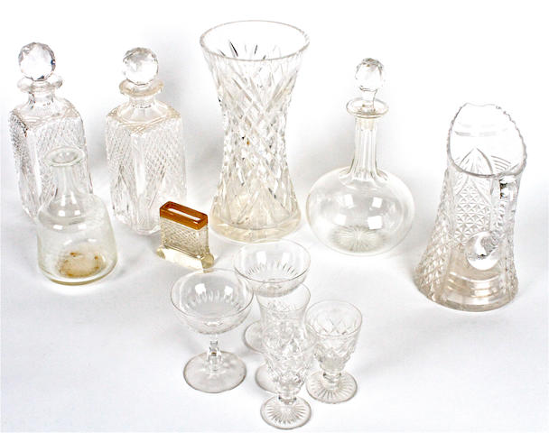 A large quantity of glass