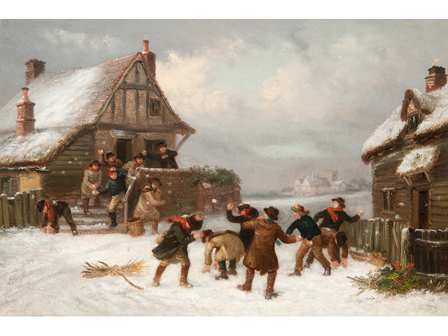 Thomas Smythe (British, 1825-1906) The snowball fight