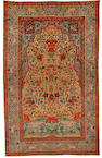 A Kirman prayer rug South East Persia, circa 1900, 7 ft 4 in x 4 ft 8 in (223 x 142 cm) minor wear