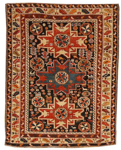 A Lesghi rug, East Caucasus, circa 1900, 4 ft 11 in x 3 ft 9 in (150 x 115 cm)