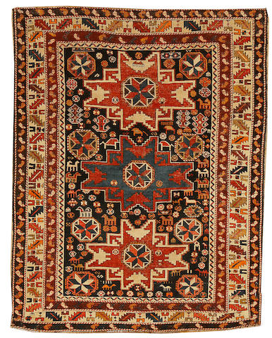 A Lesghi rug East Caucasus, circa 1900, 4 ft 11 in x 3 ft 9 in (150 x 115 cm)