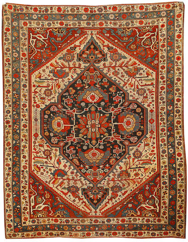 Bonhams A Khamesh Rug South West Persia Circa 1890 6 Ft 9 In X 5 Ft 3 In 206 X 159 Cm