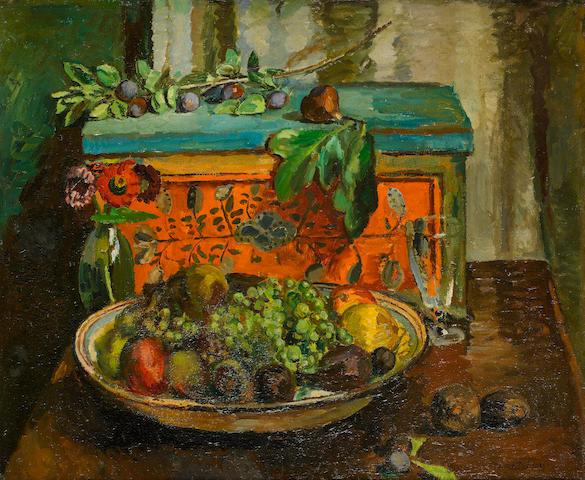 Vanessa Bell (British, 1879-1961) The Turkish Box 61 x 73.5 cm. (24 x 29 in.)
