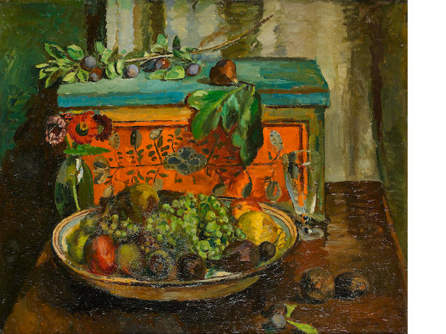 Vanessa Bell (British, 1879-1961) The Turkish Box 61 x 73.5 cm. (24 x 29 in.)