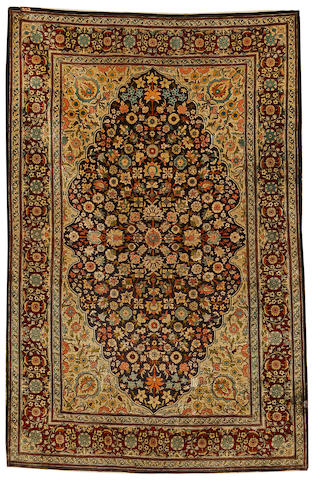 A silk Hereke rug, West Anatolia, circa 1950, 5 ft x 3 ft 3 in (153 x 99cm) good condition throughout
