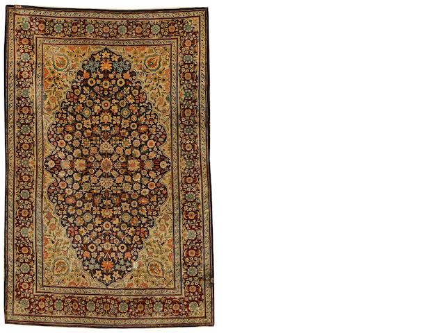 A silk Hereke rug, West Anatolia, circa 1950, 5 ft x 3 ft 3 in (153 x 99cm) good throughout