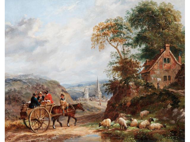 Dean Wolstenholme the Elder (British, 1757-1837) The market cart
