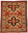 A Chelaberd rug, South Caucasus, circa 1890, 5 ft 5 in x 5 ft 9 in (164 x 145 cm) some minor wear and minor restoration