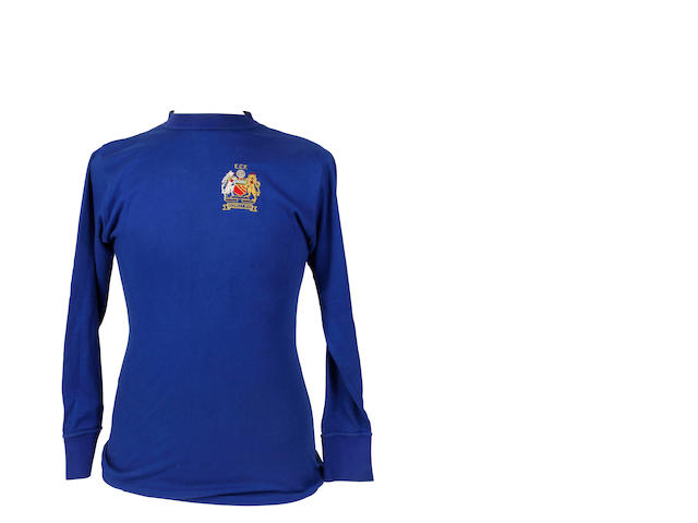 1968 European Cup final shirt worn by Tony Dunne