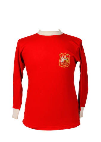 1963 F.A. Cup final shirt worn by Tony Dunne