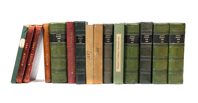 A collection of Wisdens cricket almanacks 1864 to 2007 (later years with omisions)