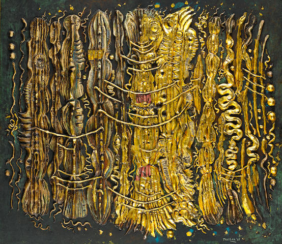 Alexis Preller (South African, 1911-1975) The Gold Temple