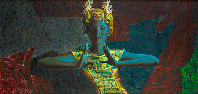 Vladimir Griegorovich Tretchikoff (South African, 1913-2006) Balinese dancer