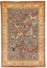 An Isfahan rug, Central Persia, 7 ft 4 in x 4 ft 10 in (222 x 146 cm) areas of colour run